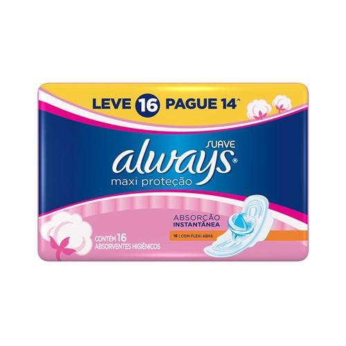 Absorvente Always Proteção Total Pink C/ Abas Lv16P14
