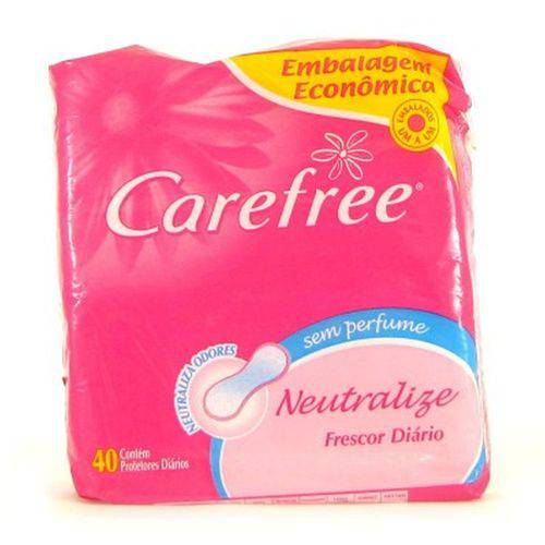 Absorvente Carefree Neutralize S/Perfume 40unid