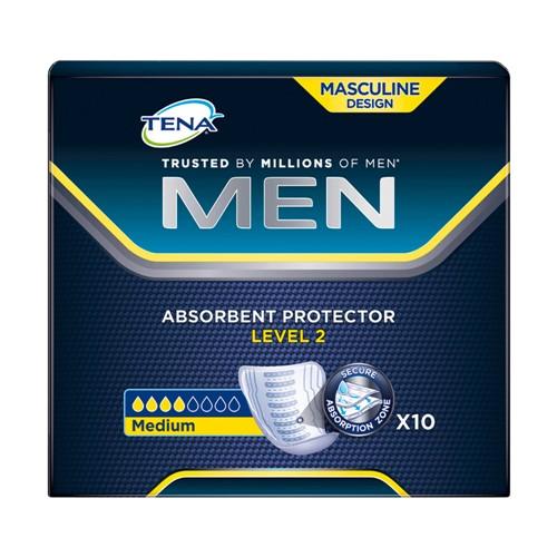 Absorvente Geriátrico Tena Men Level 2 com 10 Unidades