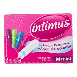 Absorvente Interno Intimus Mini com 8 Unidades