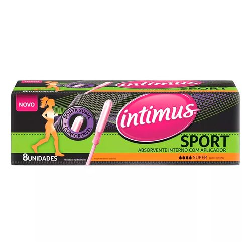 Absorvente Interno Intimus Sport Super com Aplicador 8 Unidades