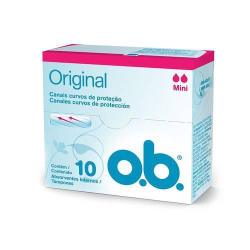Absorvente Interno O.b Mini 10 Unidades