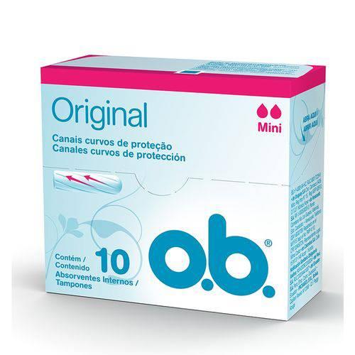 Absorvente Interno O.B. Mini Original 10 Unidades