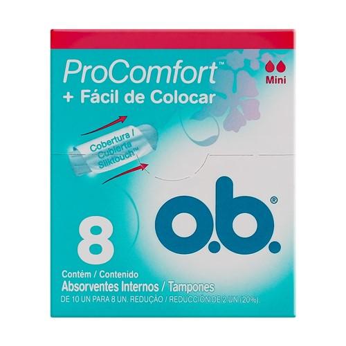 Absorvente Interno OB Pro Comfort Mini 8 Unidades