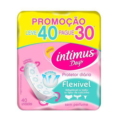Absorvente Intimus Days Abas Sem Perfume - Leve 40 Pague 30