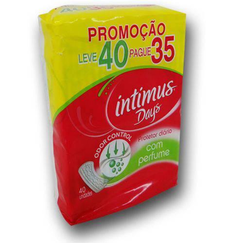 Absorvente Intimus Days Protetor Diario com Perfume - Pague 35 Leve 40