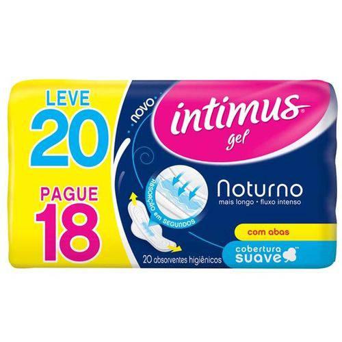 Absorvente Intimus Gel Noturno Suave Leve 20 Pague 18