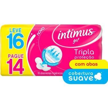 Absorvente Intimus Gel Suave com Abas L16P14un