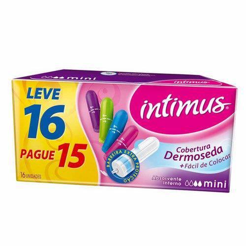 Absorvente Intimus Mini com 16 Unidades