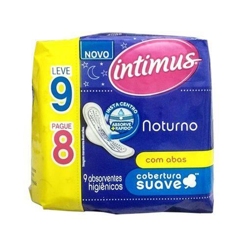 Absorvente Intimus Noturno Suave C/abas Leve 9 Pague 8