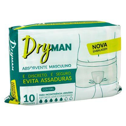 Absorvente Masculino Dryman com 10 Unidades