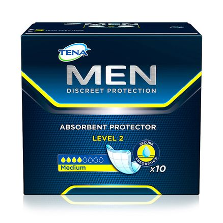 Absorvente Masculino Tena For Men Level 2 10 Unidades