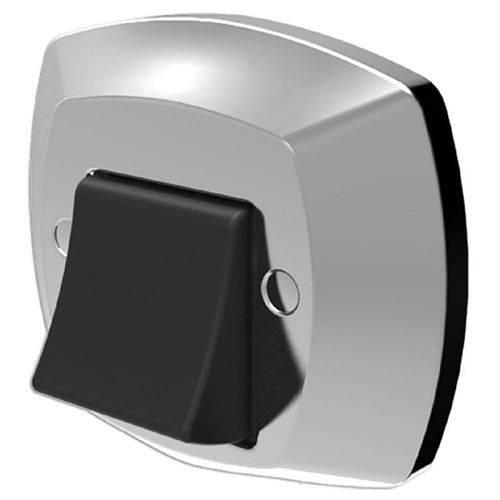 Acabamento para Válvula de Descarga Blukit ABS Cromada/Preto