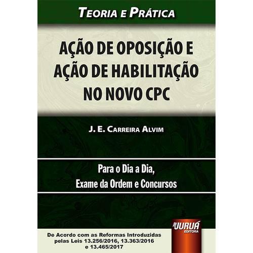 Acao de Oposicao e Acao de Habilitacao no Novo Cpc