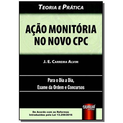 Acao Monitoria no Novo Cpc