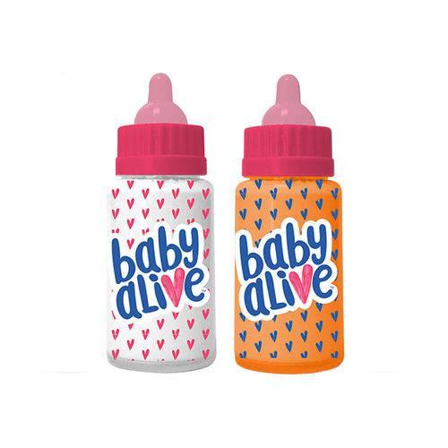 Acessórios para Boneca Baby Alive - Conjunto com 2 Mamadeiras Mágicas - Toyng