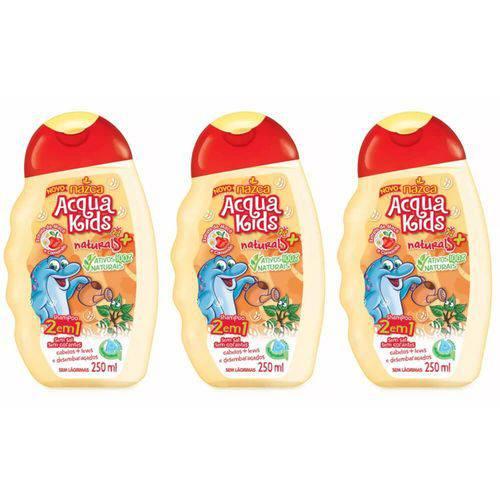 Acqua Kids 2em1 Maçã e Camomila Shampoo 250ml (kit C/03)