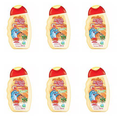 Acqua Kids 2em1 Maçã e Camomila Shampoo 250ml (kit C/06)