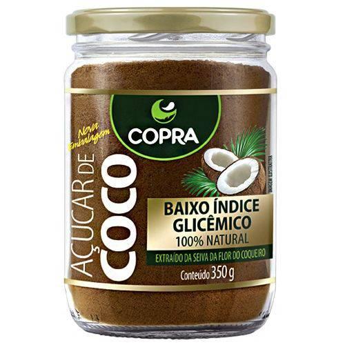 Açúcar de Coco Copra 100% Natural Pote Vidro 350g