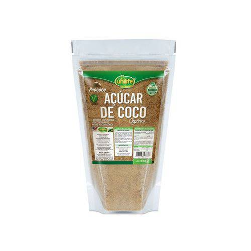 Açúcar de Coco Orgânico 250g Unilife