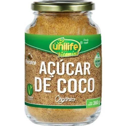 Açúcar de Coco Orgânico 360g Unilife