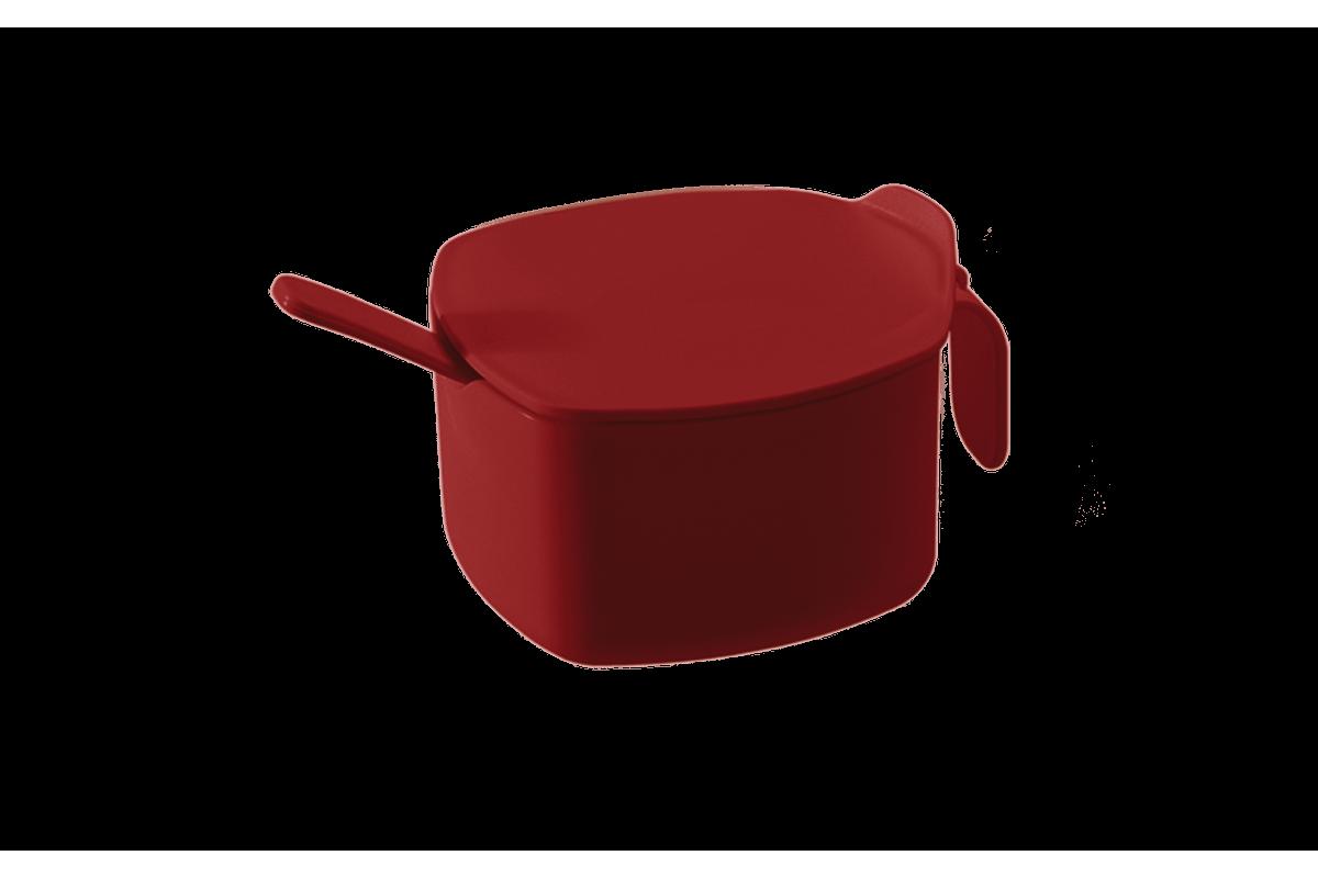 Açucareiro Casual 14,8 X 10,8 X 7,6 Cm 300 Ml Vermelho Bold Coza