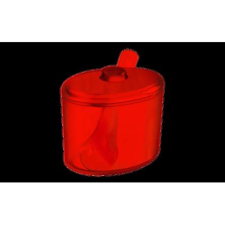 Açucareiro Cozy 320ml Vermelho Transparente