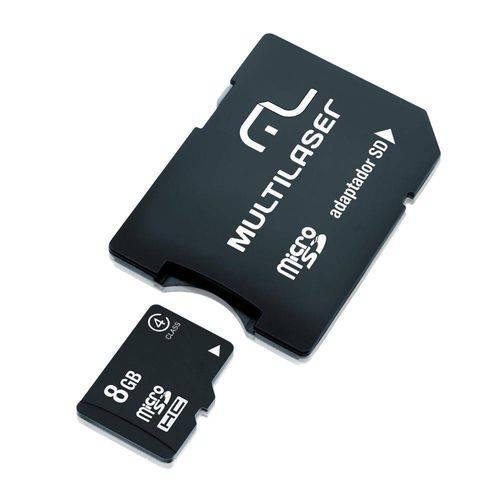 Adaptador Multilaser SD + Cartao de Memória Classe 4 8GB - MC004