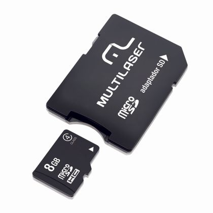 Adaptador Multilaser SD Cartao de Memria Classe 4 8GB MC004 MC004