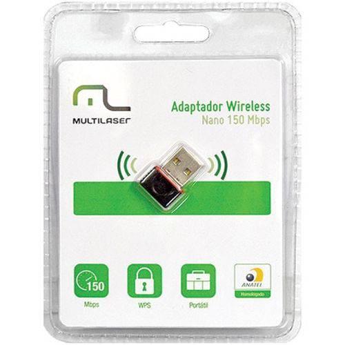 Adaptador Nano Wireless Multilaser Re035 USB 2.0 150Mbps