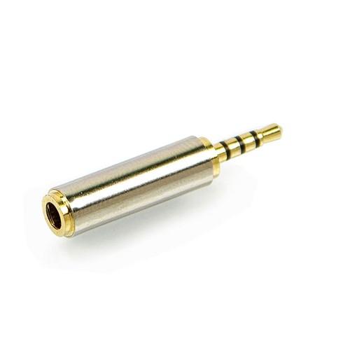Adaptador P2 Fêmea para P1 Macho - Banhado em Ouro