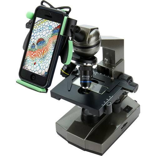 Adaptador para Microscópio Compátivel com Todos Smartphones - Greenlab - Preto