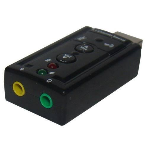 Adaptador Placa de Som Usb 7.1 Entrada P2 Fone e Microfone - Ximp