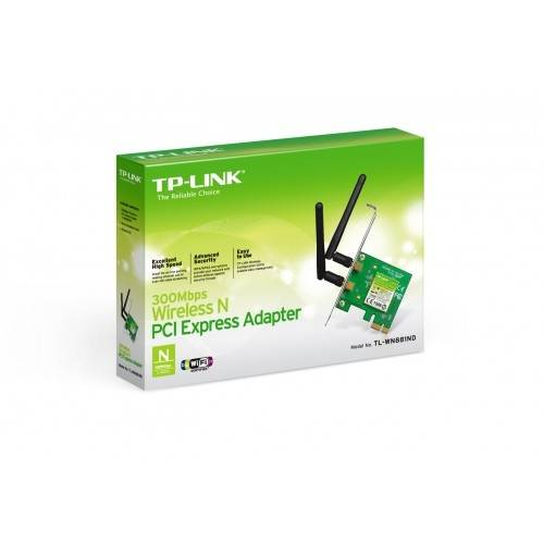 Adaptador Tp-Link Pci Express Wireless N de 300 Mbps Tl-Wn881nd