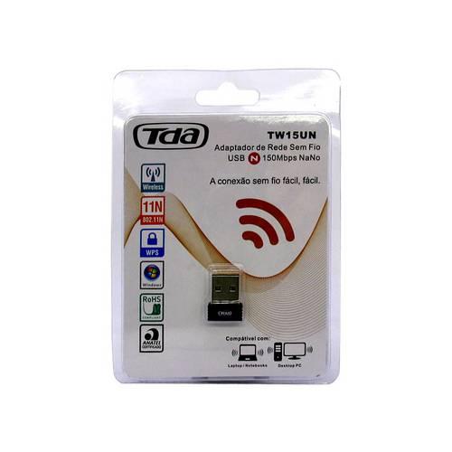 Adaptador Usb Wireless 150mpbs Tda Nano Tw15un