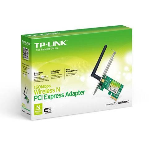 Adaptador Wireless Pci-E Tp-Link Tl-WN781ND 150Mbps