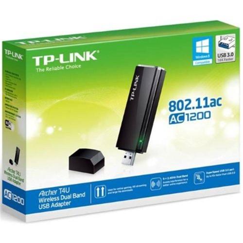 Adaptador Wireless - USB 3.0 - TP-Link Dual-Band AC1200 - Preto - Archer T4U