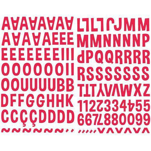Adesivo Alfabeto Eva Maiúsculo Vermelho ADF1594 - Toke e Crie By Flavia Terzi
