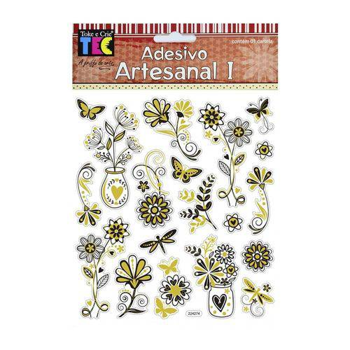 Adesivo Artesanal I - AD1856 - Arranjos Metalizados