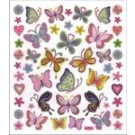 Adesivo Artesanal I Borboletas e Flores AD619 TEC