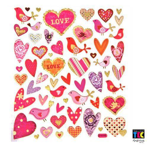 Adesivo Artesanal I Toke e Crie Corações Apaixonados - 11943 - Ad1325
