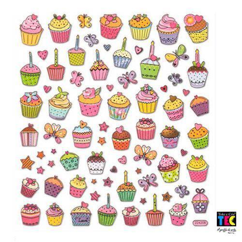 Adesivo Artesanal I Toke e Crie Cupcakes - 103330 - Ad1075