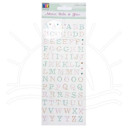 Adesivo Brilho de Glitter Toke e Crie Alfabeto