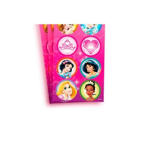 Adesivo 3 Cartelas Redondo Princesas