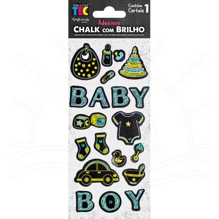 Adesivo Chalk com Brilho - Bebê Menino