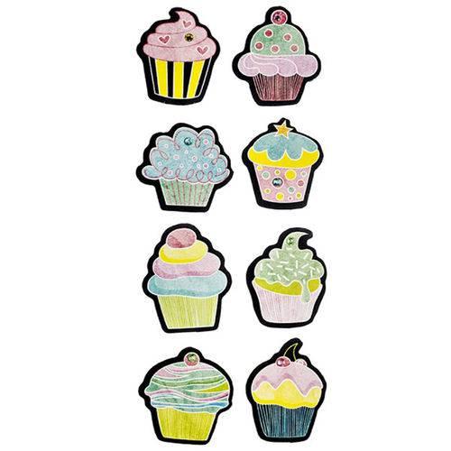 Adesivo Chalk com Brilho Cupcakes AD1719 - Toke e Crie