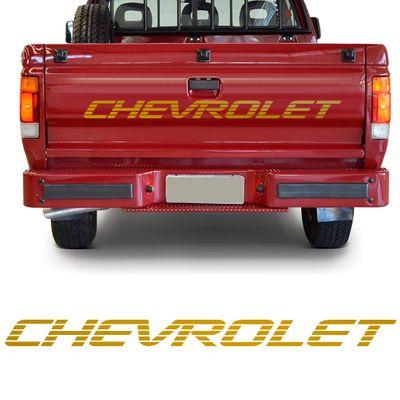 Adesivo Chevrolet da Tampa da Caçamba - A20 C20 D20 1993 a 1996 - Ouro