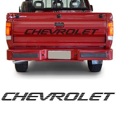 Adesivo Chevrolet da Tampa da Caçamba - A20 C20 D20 1993 a 1996 - Preto