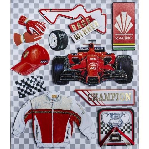 Adesivo 3d Fórmula 1 Ad1586 - Toke e Crie