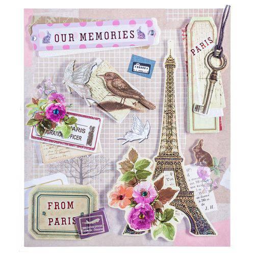 Adesivo 3d Memórias de Paris Ad1818 - Toke e Crie